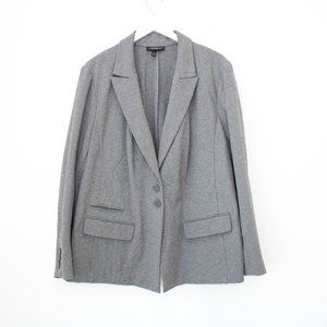 Lane bryant double button stretch grey blazer 28
